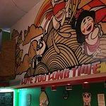 Mooki Noodle Bar - view of restaurant mural inside