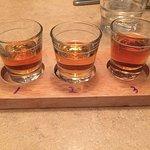 Bourbon Flight. 3 B's...Baker, Basil Hayden, Booker's.