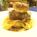 Lunch at Elite last week; Filet Mignon, mushrooms with butter and Parmesan fettuccine! Mouth wat