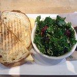 Breasskfast Sandwich Combo --- sandwich was average but salad was 10/10 !
