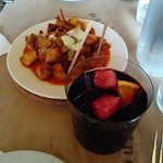 Sangria & papas bravas, go together like peanut butter & jelly. (?)
