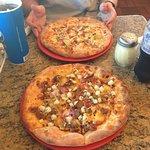 2 delicious pizzas
