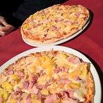 Hawaian Pizza with crisp thin base