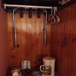 hangers above coffee maker??