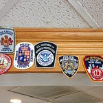 Law enforcement patches all over the place - Love that