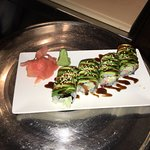 A roll specially prepared by the sushi chef for an employee - gorgeous!