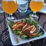 Crab cakes and trappist beer