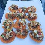 The dozen tapas plate.