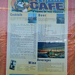 The menu page 1 of 2