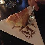 Galaktoboureko, a lemony custard dessert wrapped in phyllo pastry.