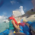 Just finished the banana boat ride. It was too crazy to take a pic while we were moving!
