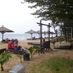 Beach swing and chairs/lounges