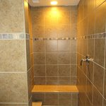 Large rainfall shower in room 201