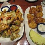 Calamari and Coconut Shrimp