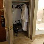 Closet with 2 nice robes
