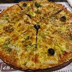 Pizza mediana de la huerta