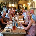 Ten friends celebrating birthdays at the Pear Tree Inn