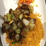 Fillet Steak Cubes with Tomato Rice