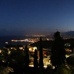 Taormina bay by night