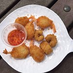 Scampi, ie proper langoustine tails in a Japanese style 'popcorn' batter