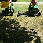 Tracteur à disposition des enfants