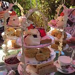Amazing afternoon tea in the garden