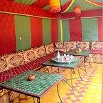 Le nouveau salon Marocain dans la tente principale
