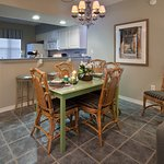 Enjoy the separate dining area in the open floorplan