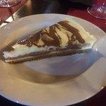 tarta de queso con dos chocolates