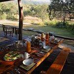 Enjoy meals on the verandah at Acacia House