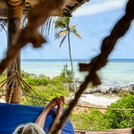Relax in the hammock on your patio
