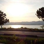 鮎家の郷から望む琵琶湖の風景