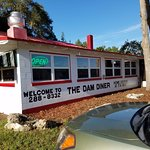 Exterior view of the Dam Diner.