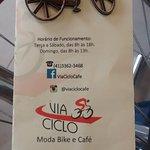 Cardápio da Via Ciclo.