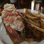 lobster roll and fries