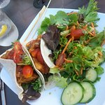 Fish Tacos with Salad