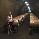 In the wine cave