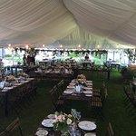 Stunning tent wedding.