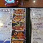 Have it your way -- Seafood, Steaks, Salads