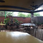 Parital view of outdoor seating area