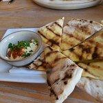 Italian hommus and flatbread