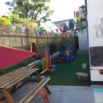 Super new outside area and waitress service for al fresco lunches