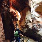 Entry to slot canyon
