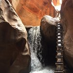 First waterfall and ladder