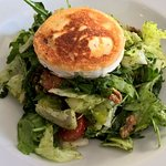 Goat Cheese Salad with walnuts, pear and other veggies
