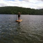 On Squam Lake with Boulders paddle board!