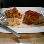 What's left of the meatloaf dinner, awesome