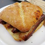 Sausage Butty at Coffee #1 in Chepstow (29/Jul/16).