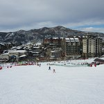 Looking at the Hotel from the slopes !