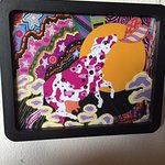 Lovestruck Spotted Cow, one of many love-struck animals in digital paintings by Tom Taylor